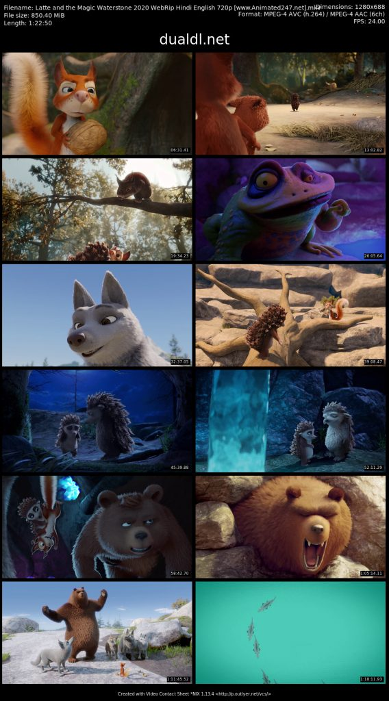 Latte and the Magic Waterstone 2020 in Hindi Dubbed